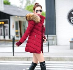 31.49$  Buy now - http://ali8vm.shopchina.info/go.php?t=32807085491 - Womens Winter Jackets Silm Coats 2017 Thick Warm Hooded Down Cotton Padded Parkas for Women's Winter Jacket Female Manteau Femme 31.49$ #buymethat