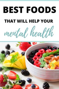 Best foods to eat that will help your Mental Health. Lower your anxiety by eating these healthy foods. Nutrition And Mental Health, Health And Wellness, Foods For Depression, High Glycemic Foods, Craving Carbs, Kidney Friendly Foods, Healthy Foods, Healthy Recipes, Good Foods To Eat
