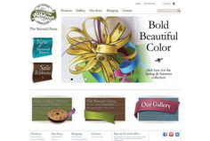 How do you sell an organic ribbon across a number of target markets? With an artisan look and feel that matches the beauty of the vibrant ribbon itself. CreamCityRibbon.com #ecommercewebsitedesign #productdatabasewebsiteecommerce #retailwebsitedesign #beautifulorganicribbonsustainable #biodegradablesustainableribbon