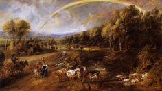 Peter Paul Rubens : Landscape with a Rainbow (Wallace Collection) 1577-1640 ピーテル・パウル・ルーベンス