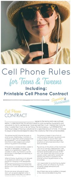 Deciding to give your teen of tween a cell phone is a BIG deal. That is why cell phone rules for tweens and teens are so important. Here's how to handle this new parenting milestone including a printable cell phone contract. Parenting Classes, Parenting Styles, Parenting Teens, Good Parenting, Parenting Hacks, Parenting Articles, Foster Parenting, Parenting Plan, Parenting Quotes