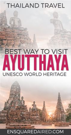 The Best Way To Visit Ayutthaya Historical Park | Asia travel, thailand honeymoon top 10 itinerary, culture travel, southeast asia travel, thailand food photography, Ayutthaya things to do in, Ayutthaya thailand, Ayutthaya itinerary, asia travel destinations, asia travel beautiful places, asia travel southeast, Ayutthaya, bangkok, train travel, Ayutthaya temples, Ayutthaya travel, thailand temples ayutthaya temples #enSquaredAired