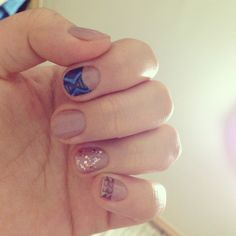 Tried self nail arts. Used nail decoration stickers. It's fabulous!!!
