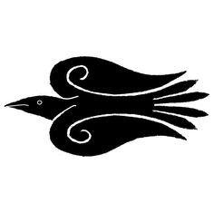 Middle Earth Craftworks: Runic and Viking Art Viking Style Raven Crow Art, Raven Art, Bird Art, Raven Totem, Raven Tattoo, Jackdaw, Crows Ravens, Viking Art, Asatru