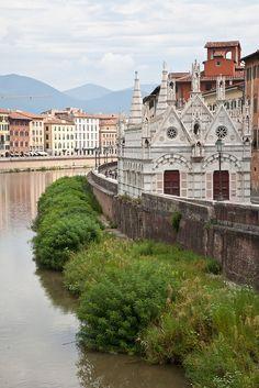 | ♕ | Santa Maria by Arno - Pisa, Tuscany, ITALY.  |(by © ClydeHouse)