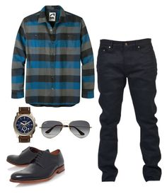 """""""men z"""" by freshdee on Polyvore featuring Mountain Khakis, Yves Saint Laurent, Grenson, FOSSIL, Ray-Ban, mens, men, men's wear, mens wear and male"""