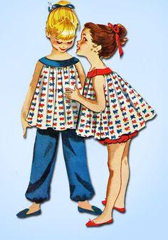 1950 McCalls patrón de costura de la vendimia 4501 Tamaño Pequeños muñeca de las muchachas de los pijamas 10