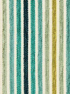 Turquoise Chenille Upholstery Fabric Aqua Stripe Fabric