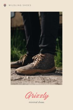 It looks durable, and that's exactly what the Grizzly is. Get to know more over on the Wildling Shoes website. picture: Sarah Pabst #minimalshoes #sustainability #fairfashion #barefootshoes #winter #wool Vegan Fashion, Slow Fashion, Minimal Shoes, Barefoot Shoes, Natural Parenting, Brown Flats, Vegan Shoes, Brown Canvas