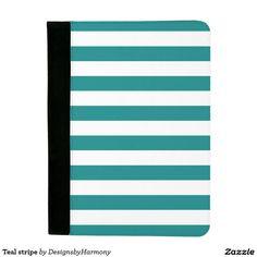 Teal stripe padfolio