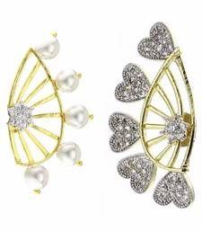 Buy pack of 2 ear cuffs jewellery-combo online