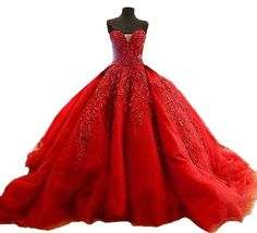 >> Click to Buy << Best Red Ball Gown Real Photo Dresses Lace Bridal Gown Cheap Gowns Plus Size Dresses 2017 #Affiliate