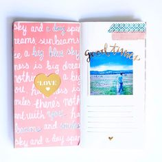 It's my favorite style of #travelersnotebook layout AND she used pink, so you know I'm going to love these #LittleSummerJOY pages by @wilderpaperlove. Love your album and your pages! Happy, Monday, friends.