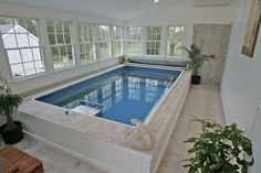 Turn your conservatory into a beautiful pool room. Enjoy beautiful views year-round from the comfort of your Endless Pool swim spa. Swimming Pool Pictures, Swimming Pools Backyard, Swimming Pool Designs, Indoor Pools, Garden Pool, Backyard Patio, Inside Pool, Pool Houses, Endless Pools