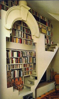 This is my dream home library/reading nook! Library Wall, Dream Library, Library Design, Library Ideas, Beautiful Library, Modern Library, Library Ladder, Future Library, Cozy Library