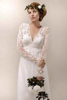 Une robe de mariée vintage, une robe de mariée rétro