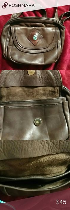 Vintage south western Leather fanny pack w stone Vintage beautiful all leather very nice clean minimal wear here in az super popular southwest native jewlery up north r  small log cabins and mountains that sells native jewelry and purses bags item like th