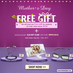 Celebrate the mother's day, three kinds of free gifts are waiting for you !! #motherday #freegift