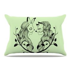 East Urban Home Foxybuns by Jaidyn Erickson Pillow Sham Size: Standard