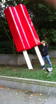Giant popsicle in downtown Seattle.
