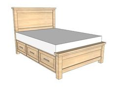 The best of both worlds! My favorite Farmhouse bed with storage drawers under it. This is perfect for the Master!