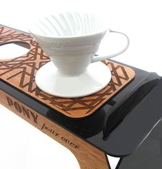 wooden coffee stand
