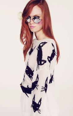 CAT FACE- LENNON SWEATER at Wildfox Couture