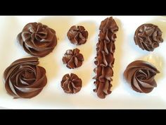 كريمة الزبدة بالشوكولاته Chocolate buttercream - YouTube