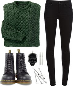 fashion style Dr. Martens polyvore Burberry Bobby D.L. & Co.