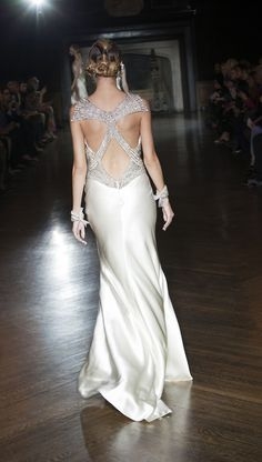 stunning embellishments on the catwalk at Johanna Johnson
