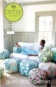 Amy Butler Gum Drop Pillows Ottoman Cushion Sewing Pattern,$11.00 Will have to try this, my daughter and her friends will love this!