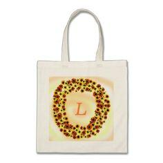 Sunflowers Wreathe Monogram Tote Bags - monogram gifts unique custom diy personalize