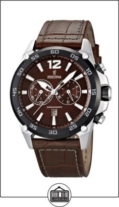 Festina F16673/3 - Reloj cronógrafo de cuarzo para hombre con correa de piel, color marrón de  ✿ Relojes para hombre - (Gama media/alta) ✿