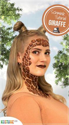 Tiefenentspannt durch die Gegend ziehen, Blätter verputzen und sich von nichts aus der Ruhe bringen lassen… Alles Dinge, die eine Giraffe sehr gut kann. Wollten wir nicht immer mal etwas für unsere Work-Life-Ballance tun?! Na wenn das nicht die beste Gelegenheit ist… Wir verkleiden uns als Giraffe! In unserem Blogbeitrag zeigen wir dir, wie du dir ein Last-Minute- Karnevals-Kostüm zaubern kannst, die passenden Make-up-Tipps gibt's gleich dazu!  #diygiraffe #giraffeschminken #giraffenmakeup Last Minute, Dreadlocks, Long Hair Styles, Beauty, Plastering, Dress Up, Carnival, Long Hair Hairdos, Long Haircuts