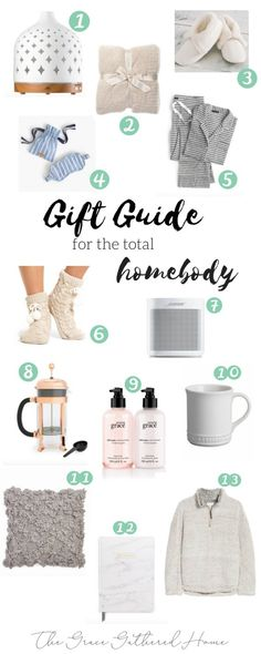 Gift Guide for the Total Homebody by www.thegracegatheredhome.com