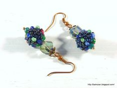 #earrings with #beadedbeads by #rozantiqjewely #forsale #bairozan