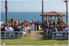 Wedding on the shore cliff. Pismo Beach, CA. Ventana Grill venue