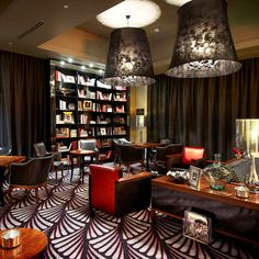 Lobby Lounge at Protea Hotel Fire & Ice! Arch Hotel, Melrose Arch, Lobby Lounge, Hotel Branding, Luxury Accommodation, Fire And Ice, Black And White, Room, South Africa