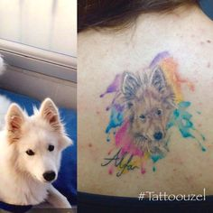 Watercolortattoo dogtattoo inktattoo tattoouzel umut uzel
