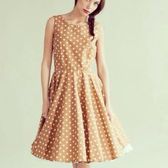 Spotty 50's inspired dress by Plum and Pigeon