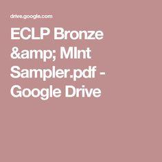 ECLP Bronze & MInt Sampler.pdf - Google Drive