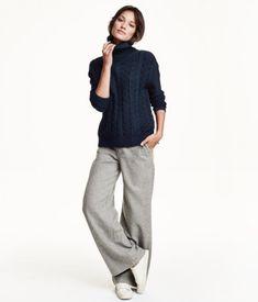 wide grey pants