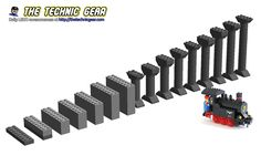 How to create Lego train inclines