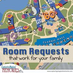 """How to choose a room at a Disney World Resort that's best for you and then submit a """"request"""" for it!"""