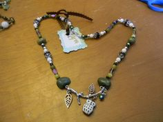 Green Adventurine Owl Necklace 12. $24.99, via Etsy. Unique Handcrafted Jewelry created by me. :)  Created from beads, wire, ribbon, and charms.  <3  Creative, interesting, and fun to wear!