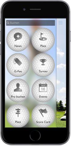 Mobile Marketing - Genau die richtigen Funktionen in der App für Golf Clubs. http://nextvisionapps.com/de/online-demo-golf-club