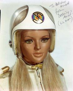 Destiny Angel from Captain Scarlet Science Fiction, Joe 90, Terry Pratchett Discworld, Sf Movies, Thunderbirds Are Go, Sci Fi Tv, Kids Tv, My Childhood Memories, Scarlet