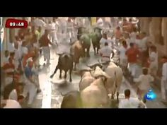 #RTVTOROS  Octavo encierro de San Fermín 14-7-2013  Pamplona Ganaderia d...