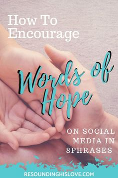 Do you get discouraged when scrolling through social media newsfeed? Do you know how we, as Christians, have the power to encourage others to use words of hope? Christian Post, Christian Living, Christian Faith, Daily Encouragement, Christian Encouragement, Words Of Hope, Biblical Quotes, Spiritual Inspiration, Mom Quotes