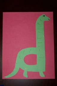 d is for dinosaur craft preschool craft for learning their alphabet letters!